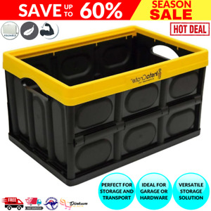 Instacrate Collapsible Crate Storage Container (47 Litre) - Yellow