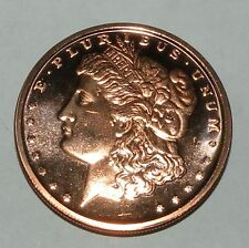 1 oz Copper Round Bullion Coin Morgan Dollar Design