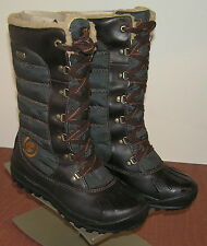 WOMEN'S TIMBERLAND Mount Holly Tall Lace Boots Waterproof Brown 21644 6 M New