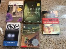 Paperback novel lot of 5