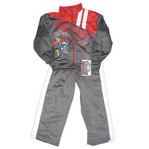 New Ultimate Marvel Heroes Spiderman Boys Nylon Outfit Jacket Pants Size 4 5 6 7