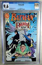 Batman #448 The Penguin Affair D.C. DC 1990 CGC 9.6 NM+ White Pages Comic U0076