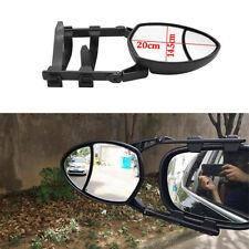 Car 1Pcs Adjustable Clip-On Extension Towing Mirror Dual View Black Universal