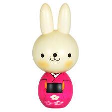 "Japanese 5""H Wooden Doll Kokeshi Kawaii Pink Kimono Usagi Rabbit, Made in Japan"