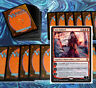 mtg RED AGGRO DECK Magic the Gathering rares 60 cards jaya ballard chaos wand