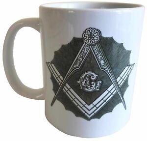 Square and Compasses - Masonic Ceramic Mug - Ideal Raffle Prize
