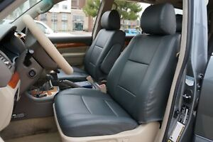 LEXUS GX SERIES 2003-2015 S.LEATHER CUSTOM FIT SEAT COVER 13 COLORS AVAILABLE