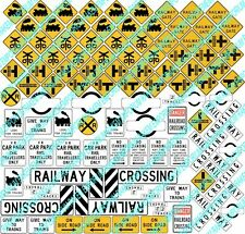HO Scale Traffic Signs, Aussie Signs Model Railway Signs - 100 Signs - HOTRS8