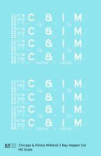 K4 HO Decals Chicago and Illinois Midland Triple Hopper White C&IM