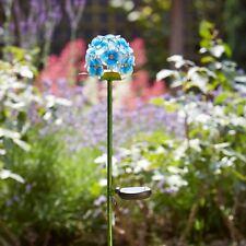 Energía Solar Jardín de vidrio azul de Azure floración de metal Luces LED Decoración Patio al Aire Libre