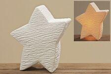 Porzellan Lampe Leuchte Stern Beleuchtung Wohn Dekoration Modern Neu