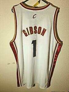 Adidas Authentic NBA Jersey Cleveland Cavaliers Gibson White Throwback Jersey 52