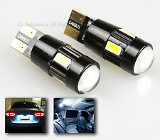 NEW 2X JDM 6000K 6-LED SMD CANBUS ERROR-FREE T10 194 168 W5W PROJECTOR LENS BULB