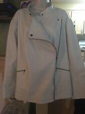 Jessica London White Leather Jacket Plus Size (28) NWT