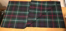 MacKenzie Modern tartan fabric Medium Weight remnant 93cm X 82cm