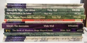 Lot/Collection of 15 RPG Books White Wolf Werewolf Vampire MERP Mage SMOKER