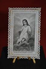"""Ancien Canivet """" Le nom de Jésus sanctifie le Scapulaire """" Image Pieuse Bible"""