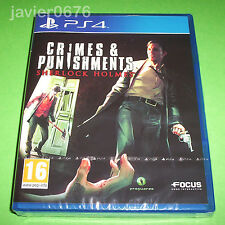 SHERLOCK HOLMES CRIMES & PUNISHMENTS NUEVO PRECINTADO PAL ESPAÑA PLAYSTATION 4