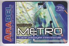 FRANCE  TELECARTE / PHONECARD  PREPAYEE .. 7€50 ARABEL TRAIN METRO RATP +N°