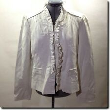 Giacca White Faux Leather Jackets Outerwear L