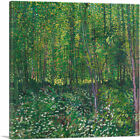 ARTCANVAS Trees and Undergrowth 1887 Canvas Art Print by Vincent Van Gogh