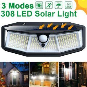 Solar LED Spot Wall Lights Motion Sensor Outdoor Garden Security FloodLight Lamp
