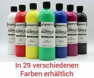 Acrylfarben 500 ml von Sparbild Flaschen Malfarbe/Acrylfarbe Künstler Malfarben