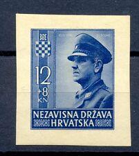 YUGOSLAVIA KROATIA  HRVATSKA 1943  MI# 101  CV € 80   IMPERF. * MH  VF