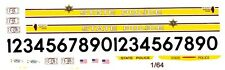 ILLINIOS State Police Car 1/64th HO Scale Slot Car Waterslide Decals