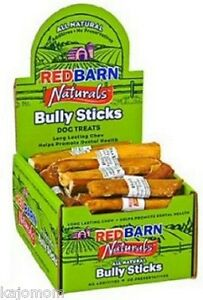 "25 FRESH RedBarn Naturals 5"" BULLY STICKS Dog Chews Treats Dental Grass Fed Tags"