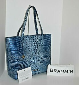 Authentic Brahmin Misha Aquarius Melbourne Leather $345 With Dust Bag