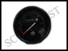 Vespa LML PX Lusso 80 125 150 Speedo Speedometer Black Face Black Rim New
