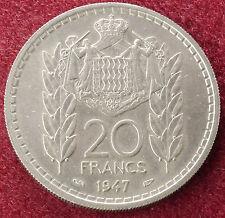 MONACO 20 FRANCHI 1947 (C0909)