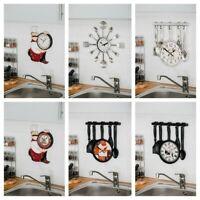 TRADITIONAL VINTAGE WALL ROUND CLOCK HOME DECOR GIFT ROUND LUXURY KITCHEN QUARTZ