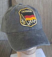 German Flag Baseball Cap Adjustable Unstructured Light Pigmented Dyed Ball Cap