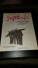 Genesis Never A Time Rare Original Promo Poster Ad Framed!
