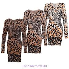 Viscose Party Animal Print Dresses for Women