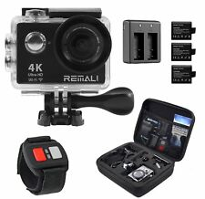 REMALI 4K Ultra HD Sports Action Camera 1080P@60fps 12MP WIFI Waterproof 30