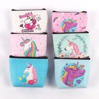 Las mujeres bolso de mano Auricular paquete Unicornio monedero Mini Cartera