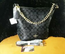 Premium Quality Coach Sling with Gold Chain_ Coffee Brown