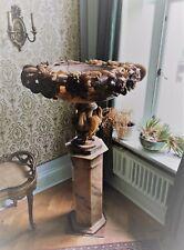 RARE 19th secolo Intagliato ALABASTRO ONICE MARMO Urna in stand ASTOR Cliveden
