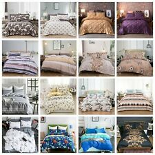 3D Animals Doona Duvet Quilt Cover Flower Bedding Set Pillow Cases Double King