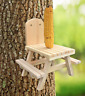 Squirrel Feeder Picnic Table - Solid Wood - Handmade In USA