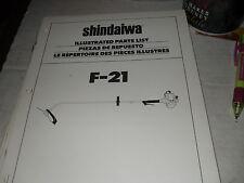 shindaiwa f 21 parts manual shindaiwa equipment manual