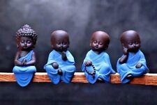 4 piezas Rezando Buda Sentado Figura De Adorno Estatua Escultura meditando