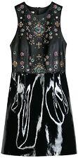 CHRISTOPHER KANE Black Jewelled Leather Dress