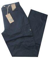 Pantalone uomo taglia M L XL XXL XXXL  tasconi cotone blu SEA BARRIER ISOLA