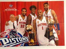POSTER DETROIT PISTONS NBA CHAMPIONS 2004