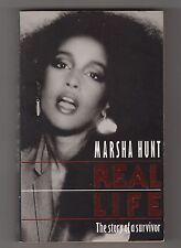 MARSHA HUNT = REAL LIFE = THE STORY OF A SURVIVOR ={HAIR MICK JAGGER MARC BOLAN}