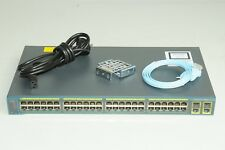 Cisco Ws-C2960-48Tc-L/S 48-Port Switch w/ Accessories Great Value for Ccna Ccnp